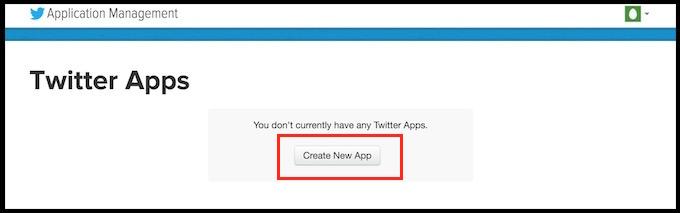TwitterのAPI Keyを取得する方法。新しいAppを作る