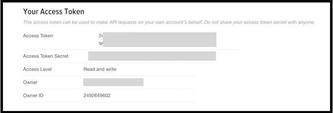 TwitterのAPI Keyを取得する方法。