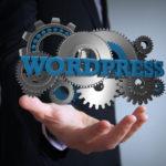 WordPressとギアとビジネスマン